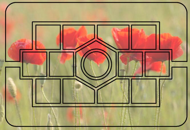 Multi-pattern metering pattern