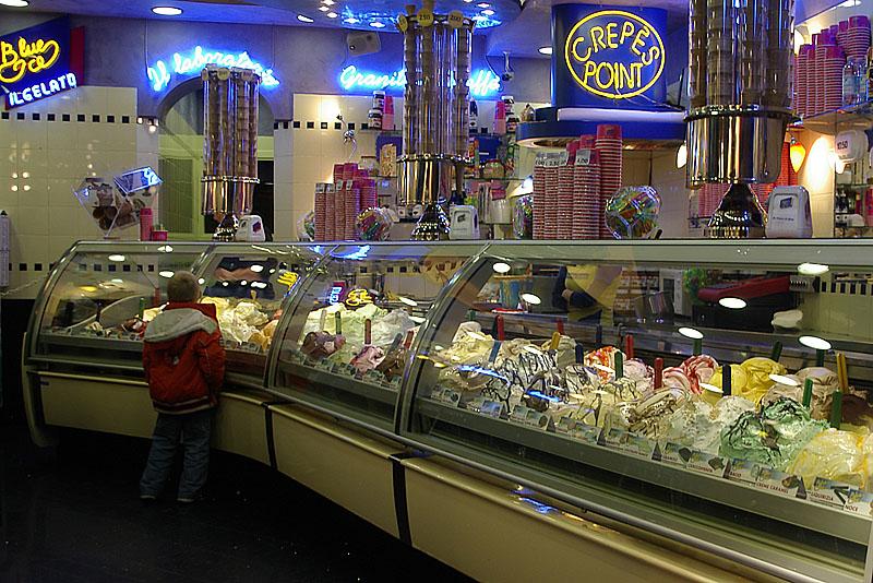 Kid in a Gelato Store