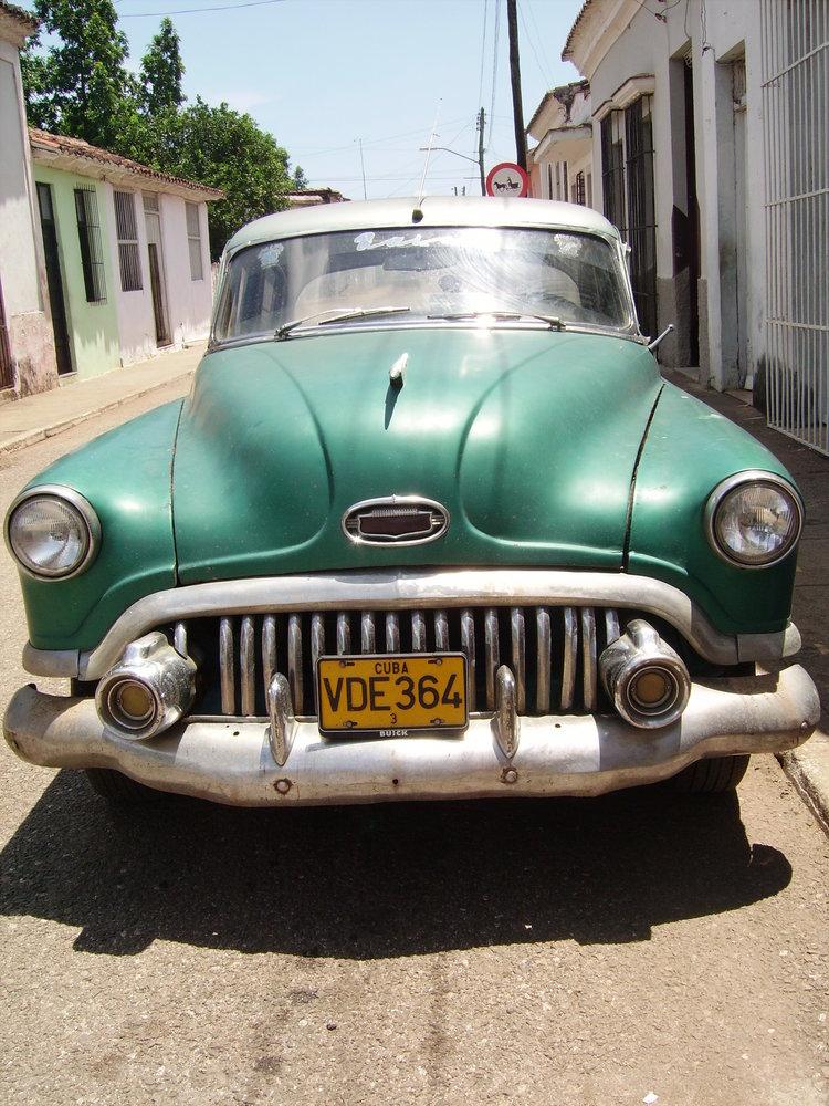 old american car, trinidad, cuba