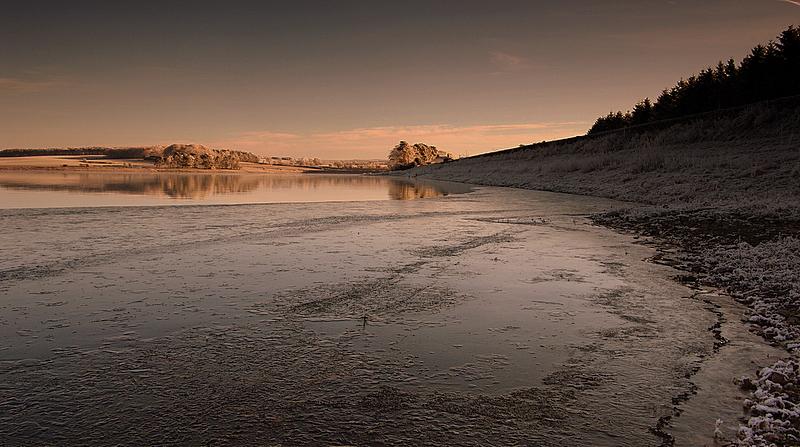 Cold morning on Hallington Ponds!