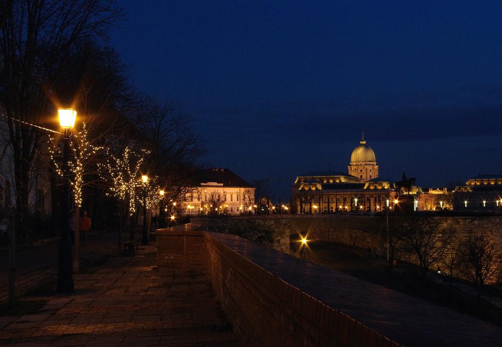 Budavár Palace in blue hour