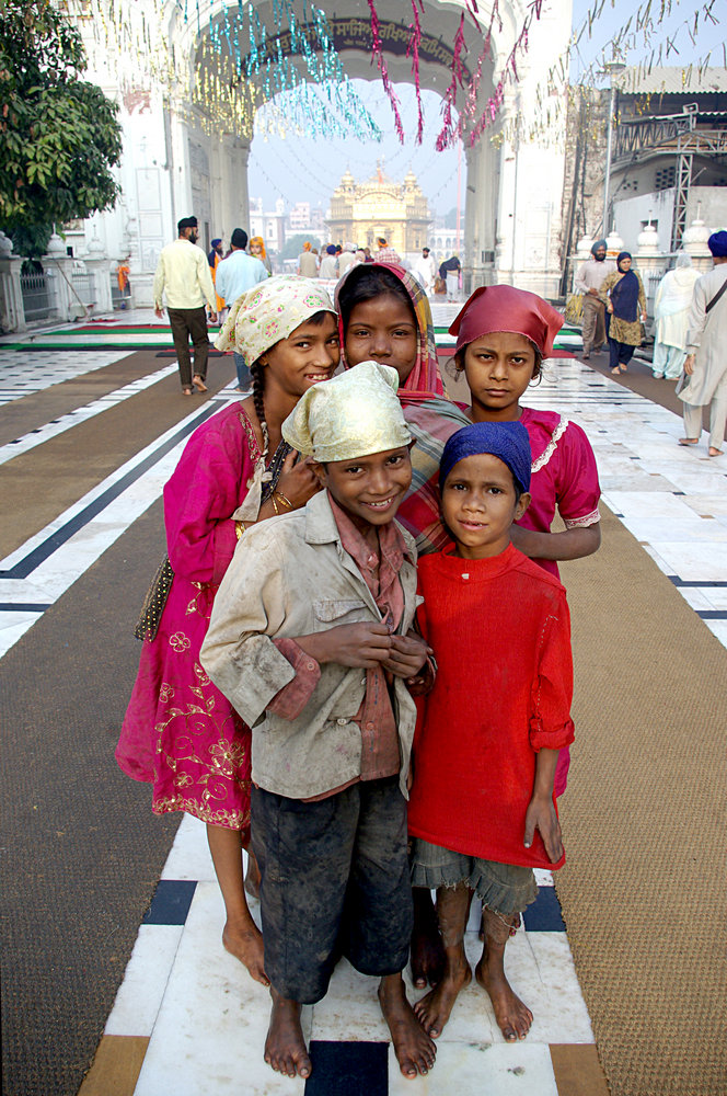 Children at the Golden Temple, Amritsar, India