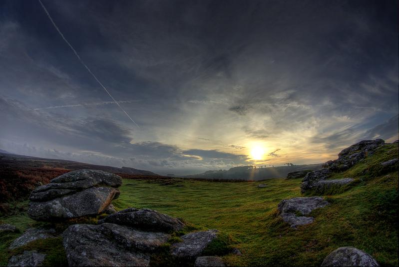 Dewerstone sunrise, looking west