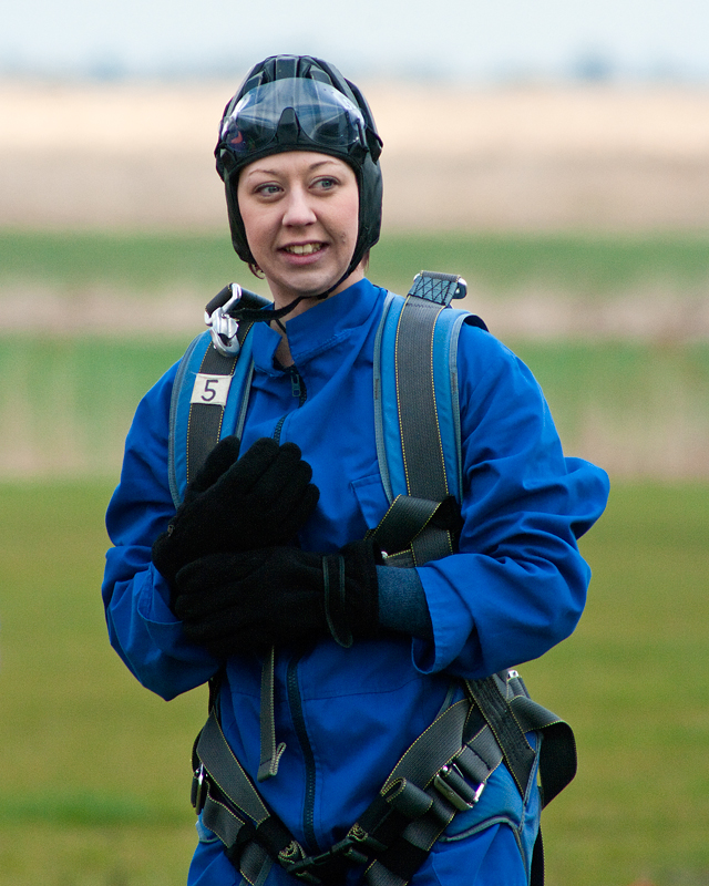 Before her sky jump.