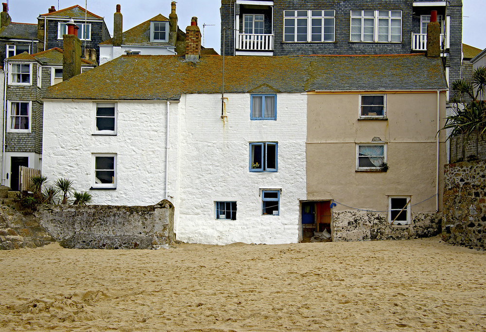 Houses on the beach, St Ives Harbour , Cornwall