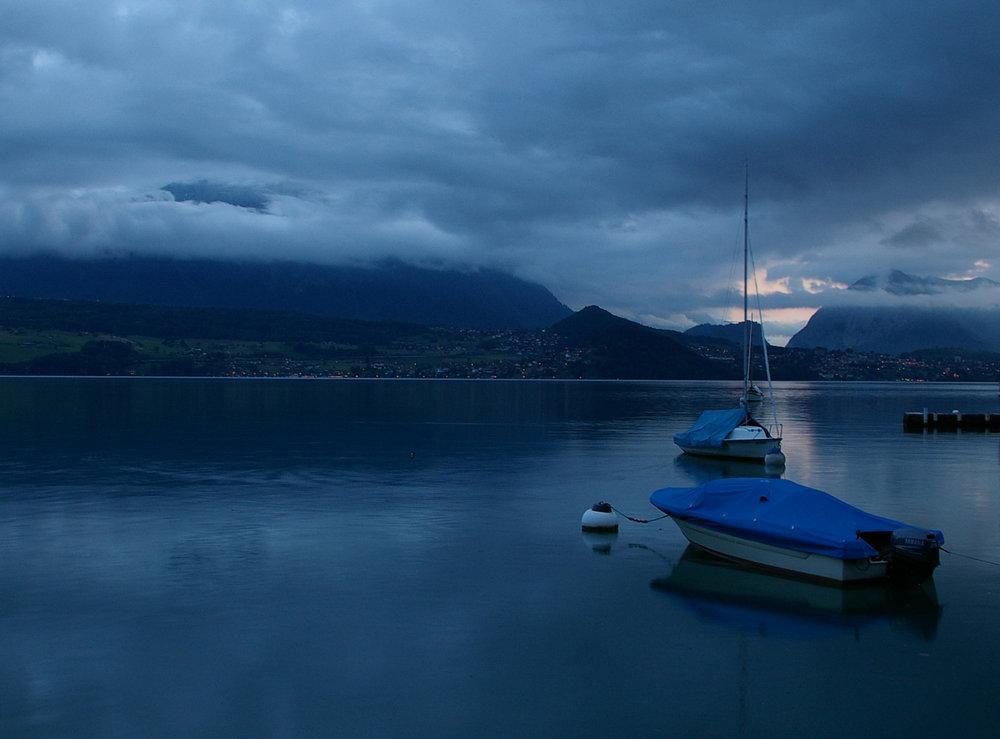 Late evening in Thun, Swiss