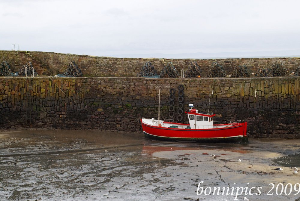 Waiting for the Tide in Crail Harbour
