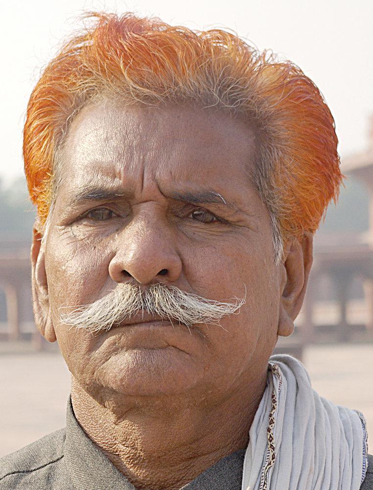 Man with henna hair, India
