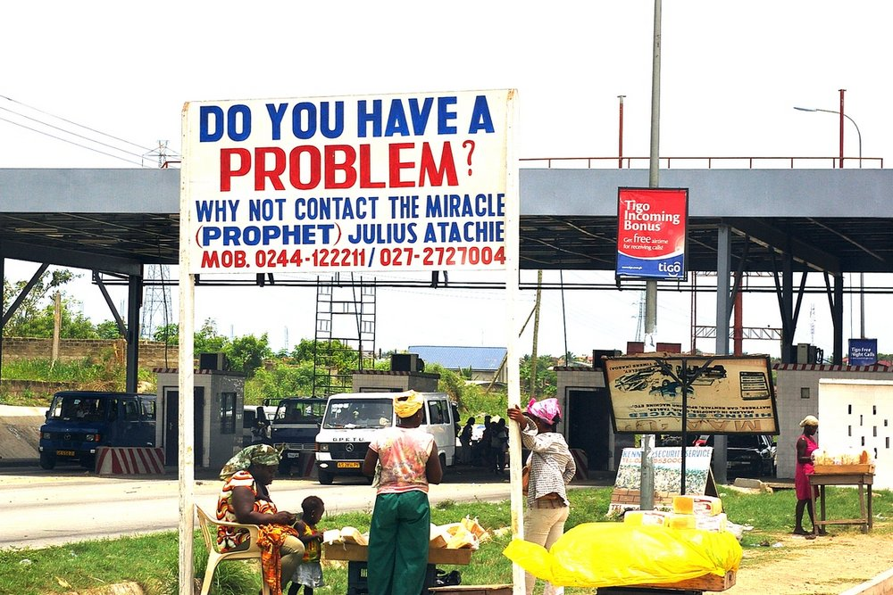 Roadside Advert - Accra, Ghana
