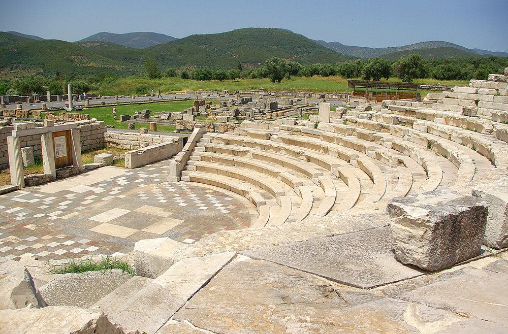 Amphitheatre at Ancient Messini, Peloponnese, Greece