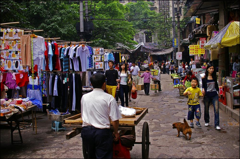 Street Market, Chongqing