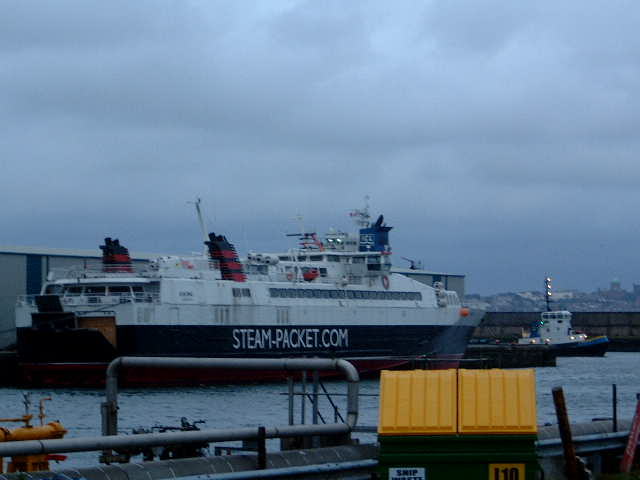 IoM Ferry In Liverpool Docks