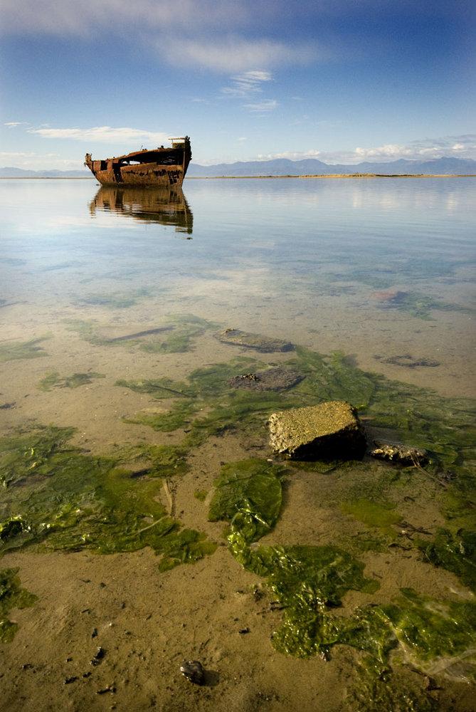 Shipwreck at Motueka - Janie Saddon