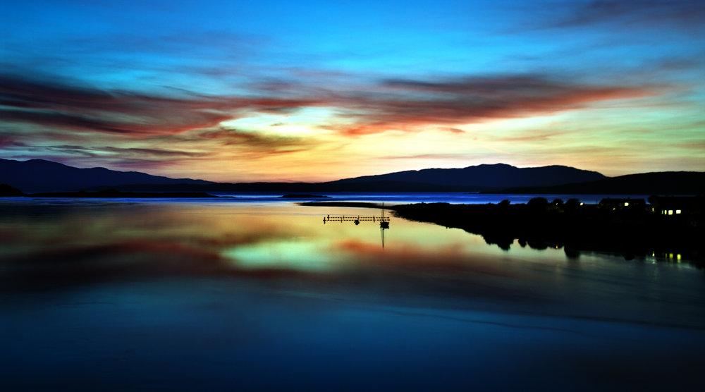 Sunset by Connel Bridge