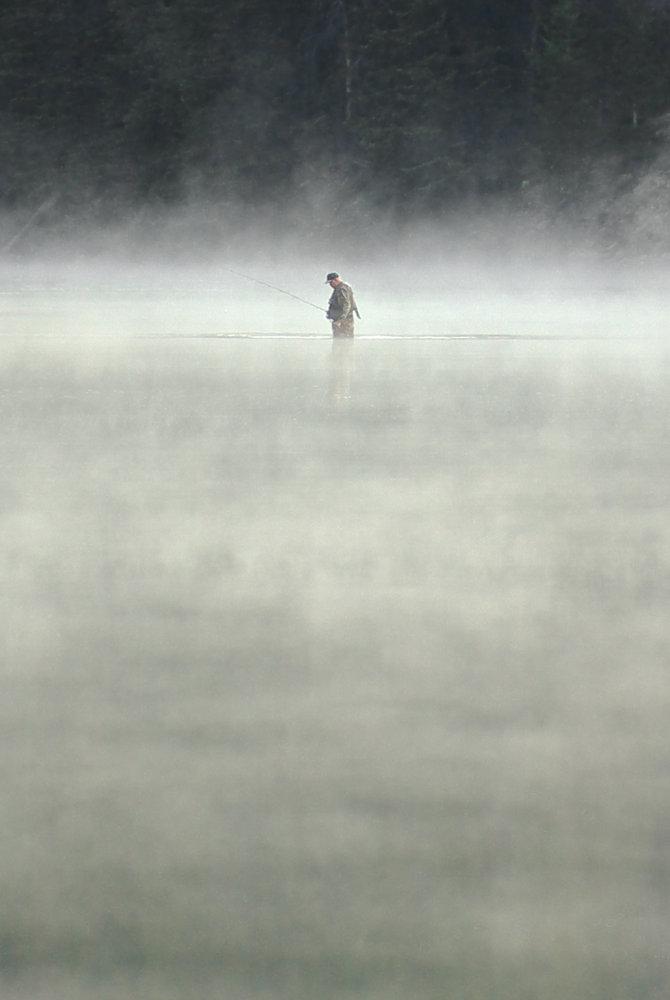 Angler in the mist