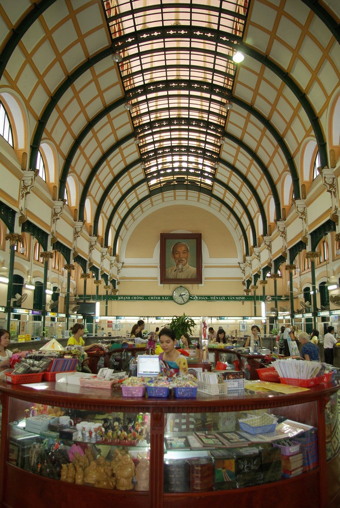 Interior of Post Office in Saigon