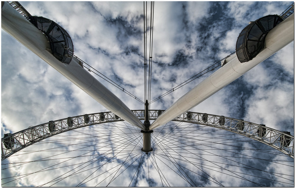 Looking up at the London Eye