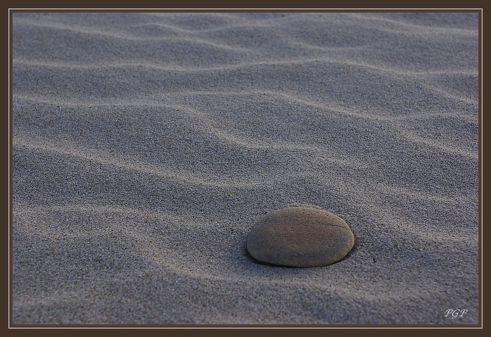sand waves and stone