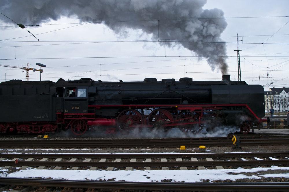 An old steam locomotive