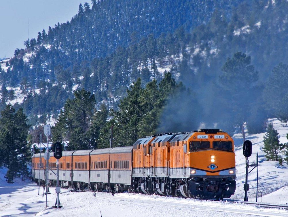 Ski Train At Plain