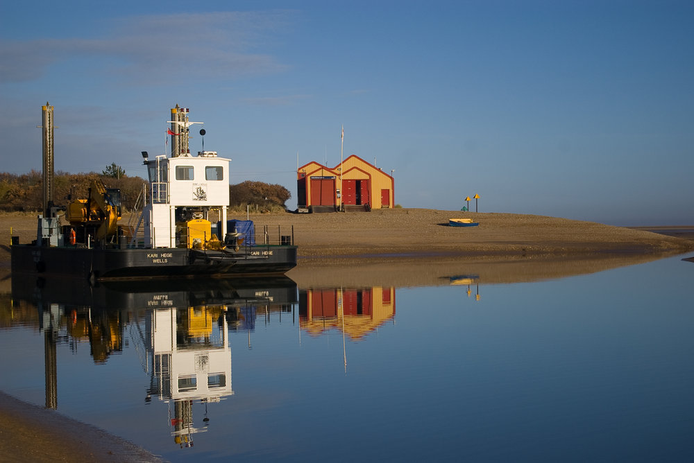 Reflection at Wells-on-Sea