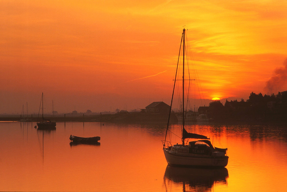 Sunrise on the River Crouch.