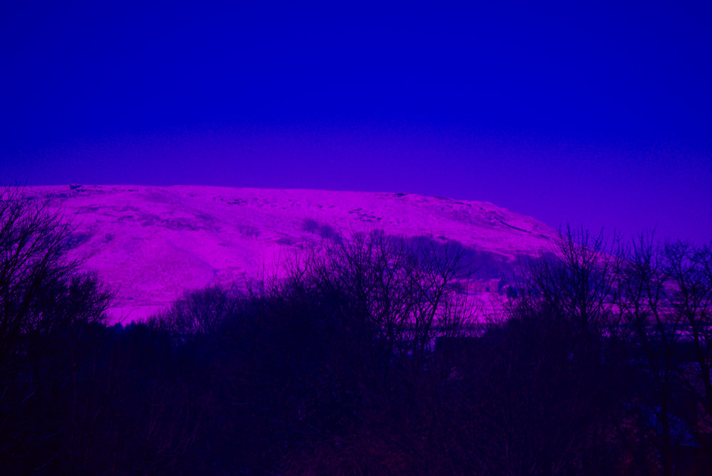 snow on saddleworth moor