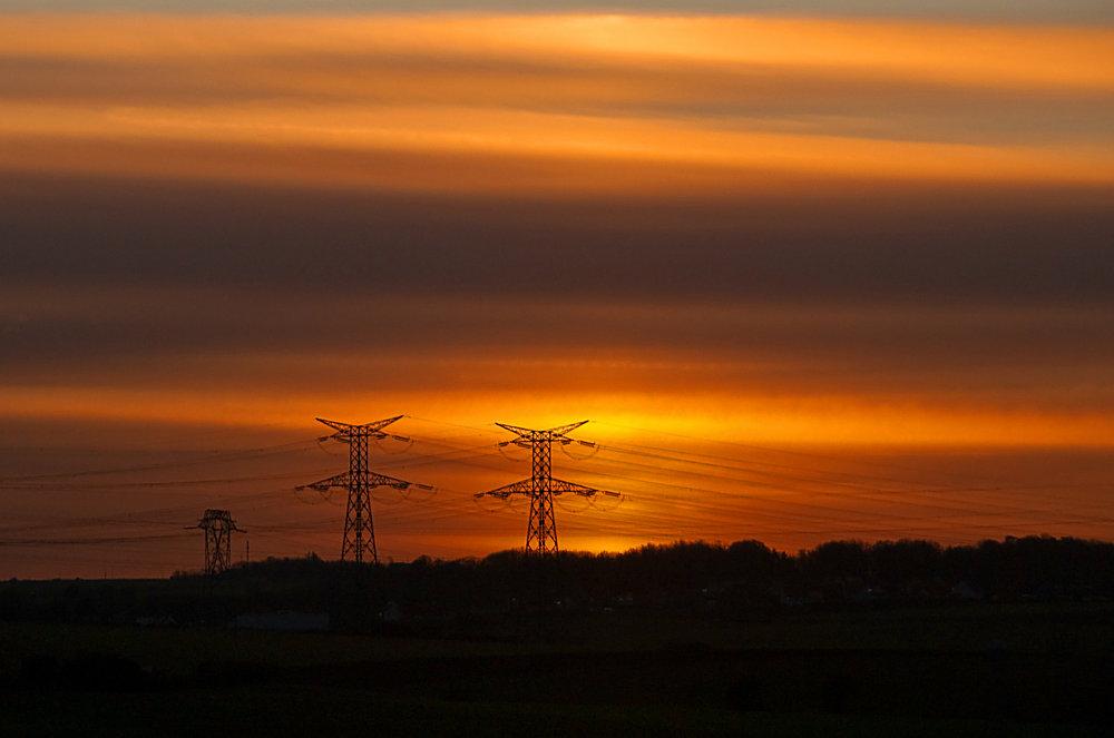 'Speeding' sunset