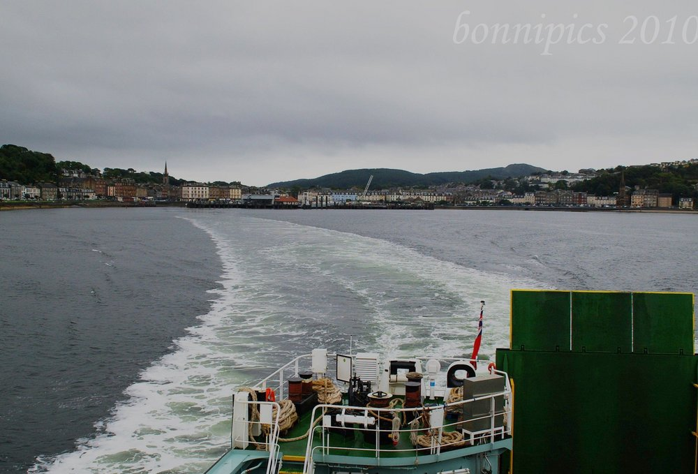 Leaving Rothesay on a Dour Morning