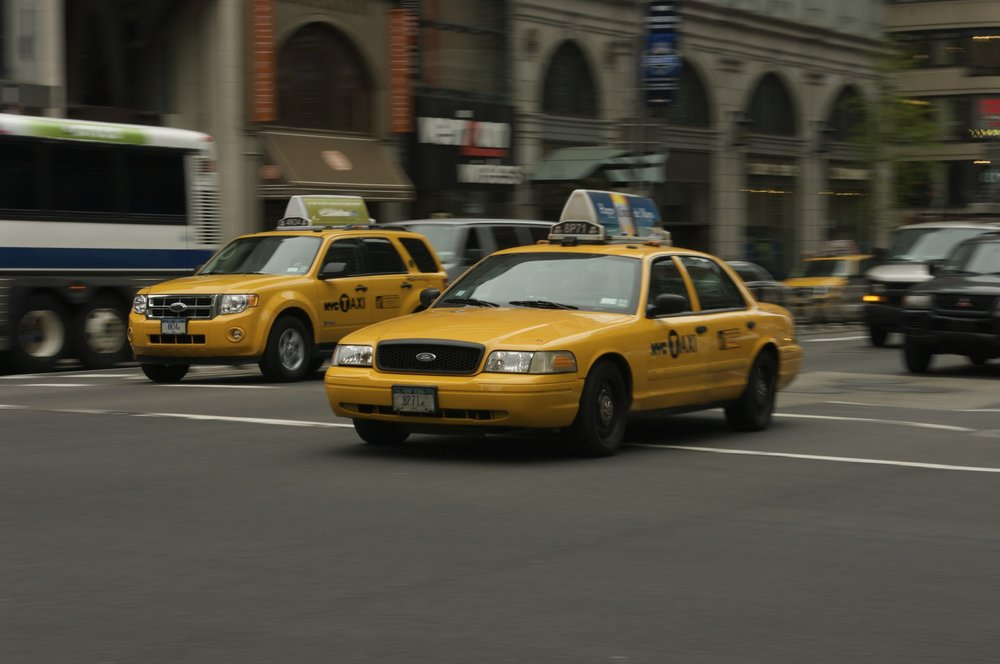 New and Old New York Taxis