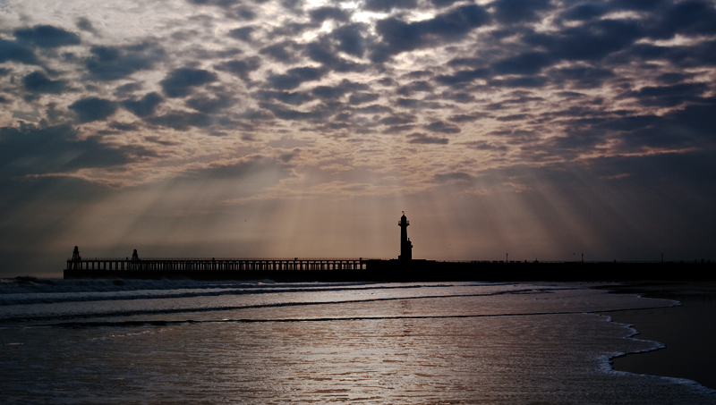 Whitby at dawn