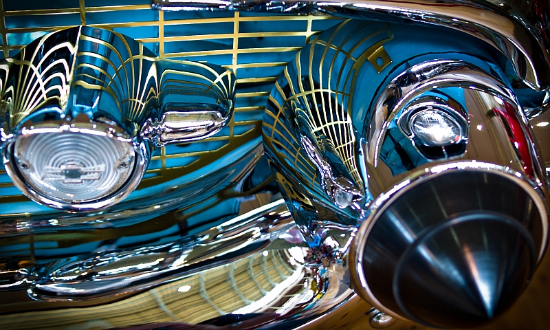 chrome and grille