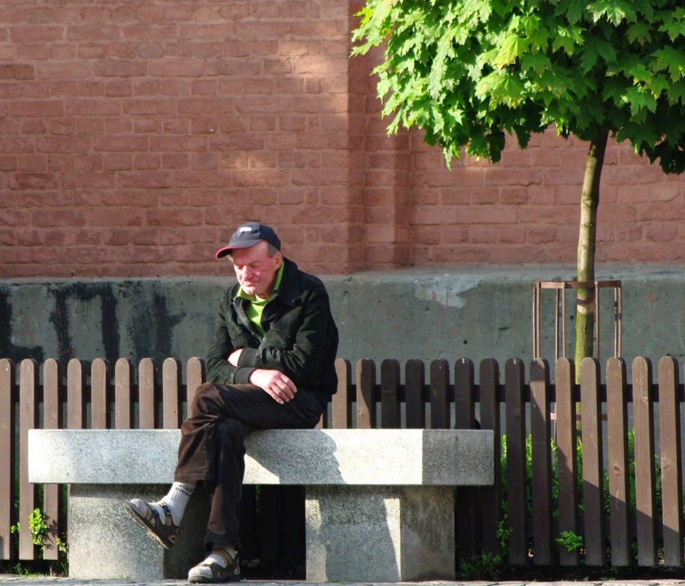 Lonely Man in Torun