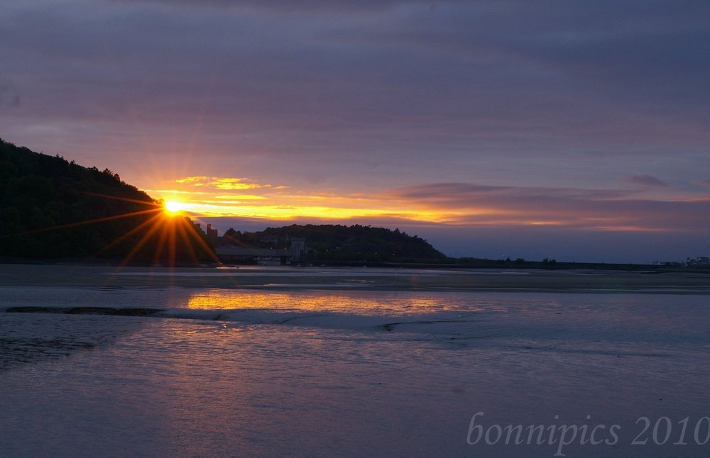 Sunset on Conwy