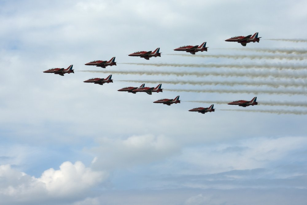 Red Arrows at 2010 Air show