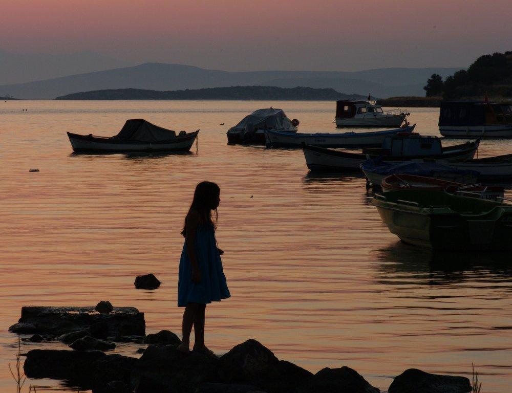 Boat Watching at Sunset