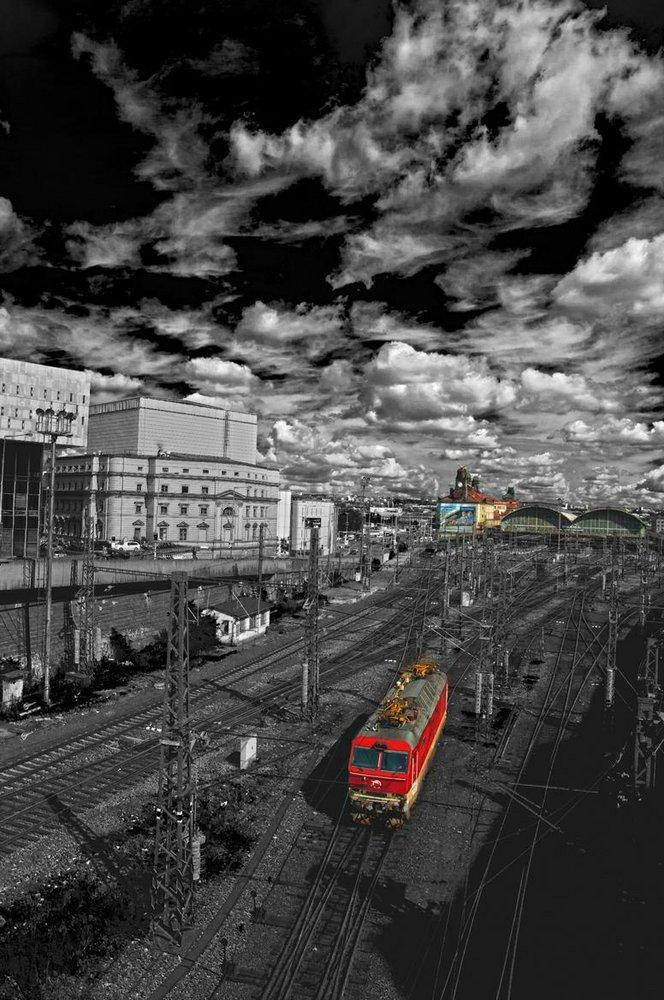 Locomotive in Prague