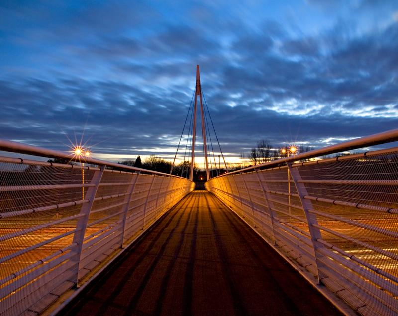 Pedestrian bridge to Sale Water Park