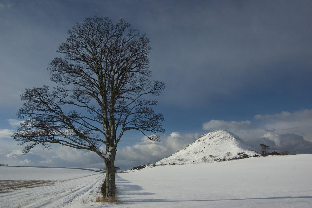 North Berwick Law with Snow