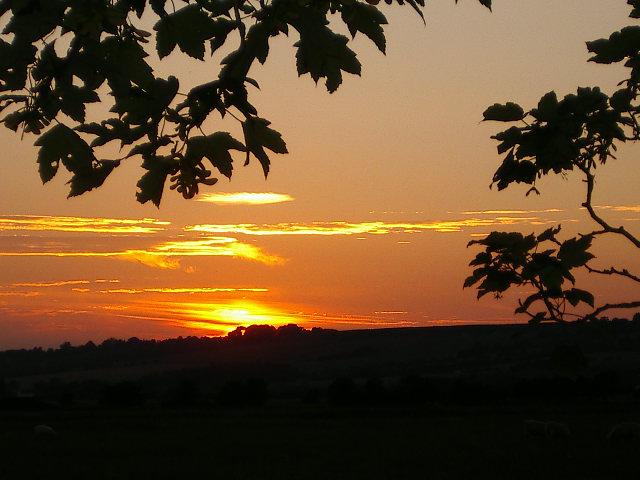 Sunset over Romney Marsh by magoo