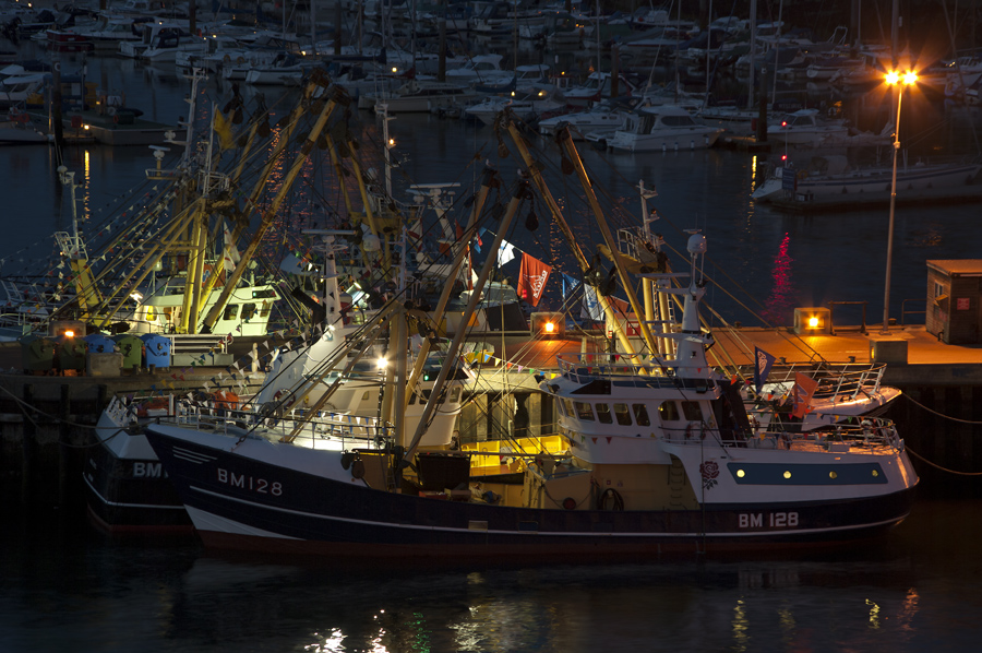 Brixham Harbour Fishing boats