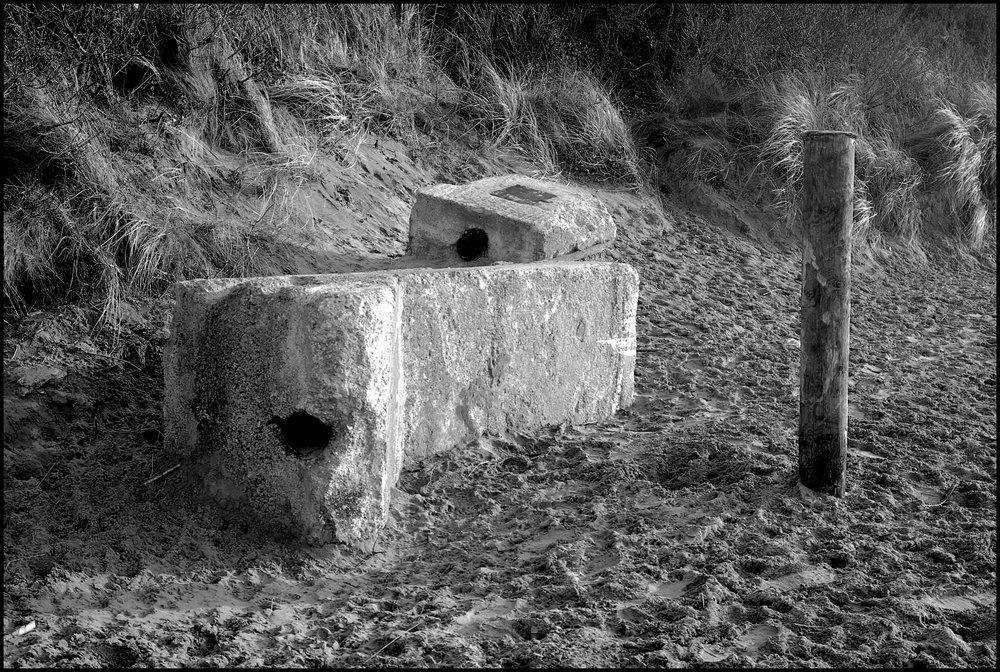 Concrete Block with Post