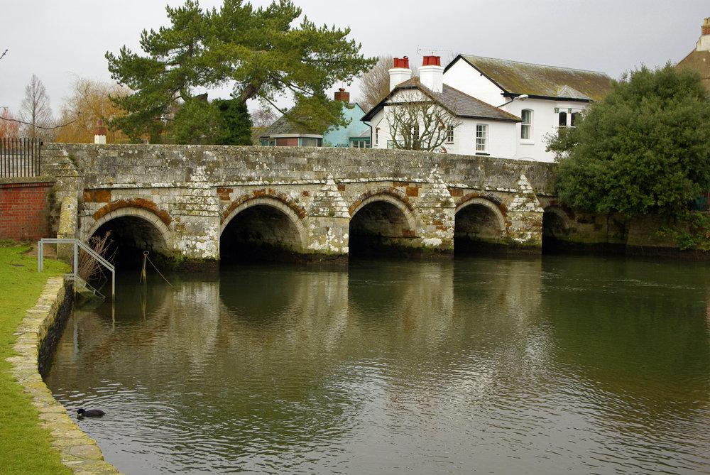 Old bridge in Christchurch, Dorset