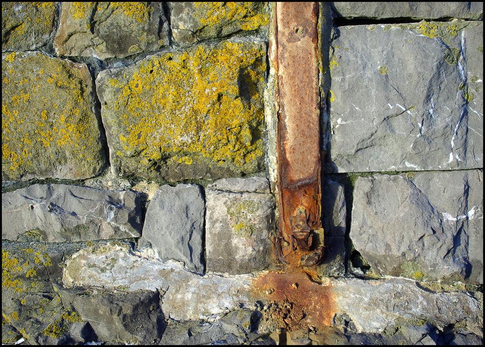 Rust, lichen and limestone