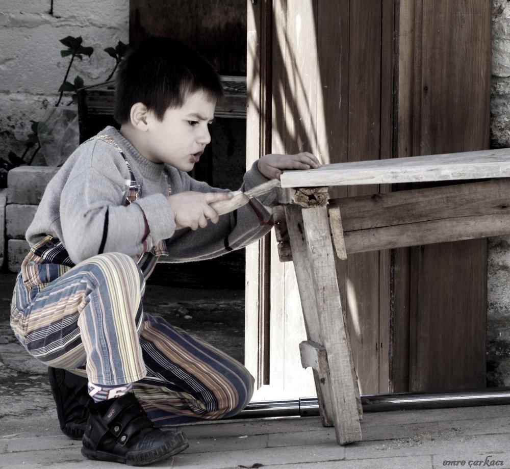 hardworking boy