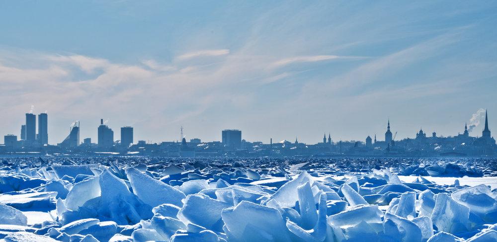 Tallinn on ice.