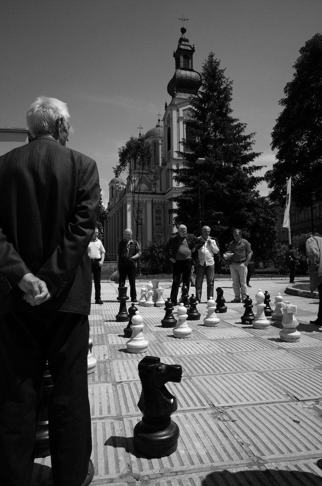 Chess in downtown Sarajevo