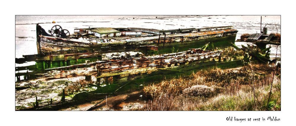 Old barges at rest