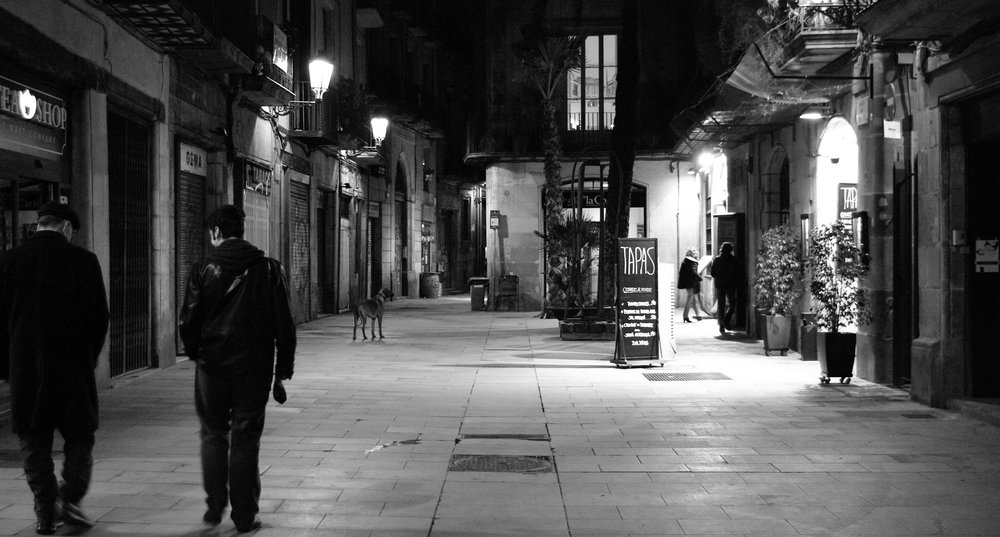 Late Night Stroll  in Barri Gotic