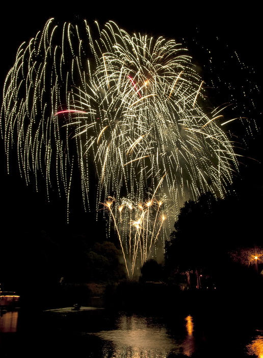 Shrewsbury Flower Show fireworks 2011